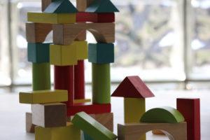 A building block castle