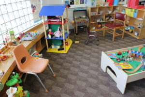 Children's library play space